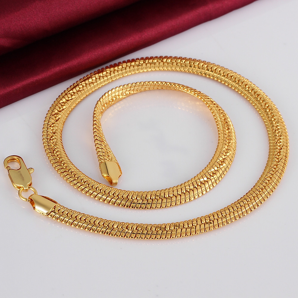 2020 Mens 10mm Cool Snake Chains 18k Gold Rose Golden Necklaces Solid N818 Gift Pouches Free 2015 New Jewelry From Tengsun 7 44 Dhgate Com