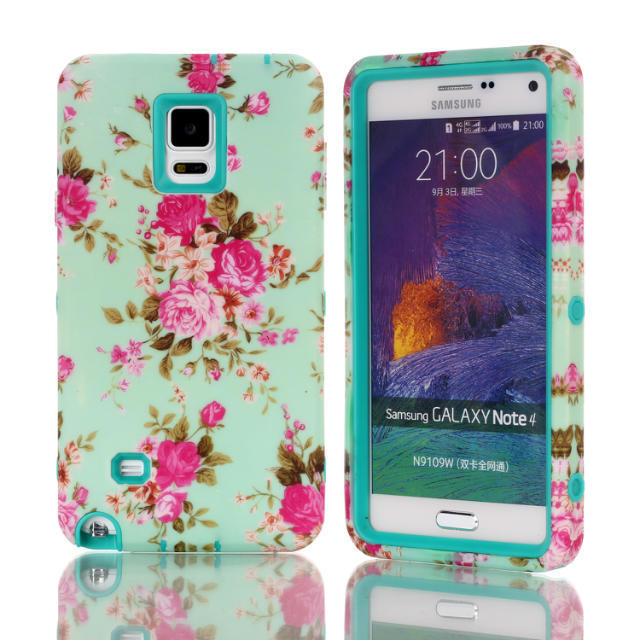 buy online 9c534 e247f For Samsung Galaxy Note 4 Case Flower Plastic Phone Back Skin Cases Cover  For Galaxy Note4 N9100 Leather Cell Phone Cases Phones Cases From ...