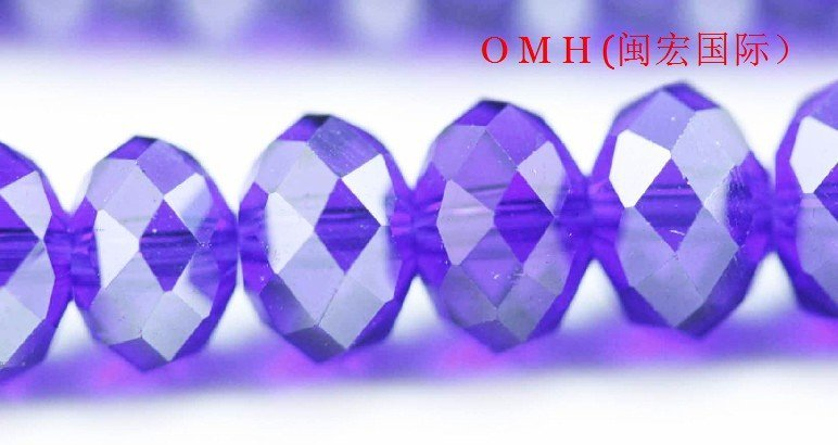 OMH wholesale! 300pcs/packs Deep blue ball glass crystal rondelle spacer beads 6mm OMH107
