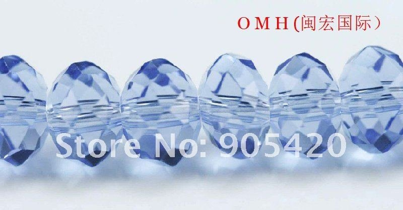 OMH wholesale! 200pcs/packs blue ball glass crystal rondelle spacer beads 12mm OMH112