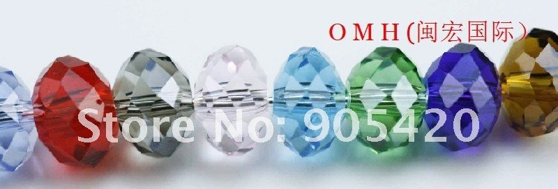 OMH wholesale 800pcs/Lot rondelle mixed glass crystal beads 6mm