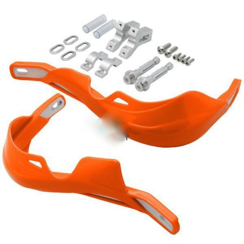 PAIR HAND GUARDS MOTORCYCLE MOTOCROSS DIRT BIKE ATV SCOOTER MX HANDGUARD orange