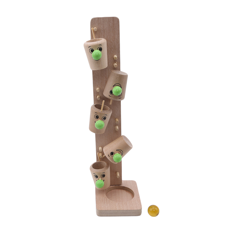 Baby Montessori Wooden Blocks Tree Glass Ball Run Track Math, Counting & Time Learning & Education Toys Game Kids Children Intelligence Educ