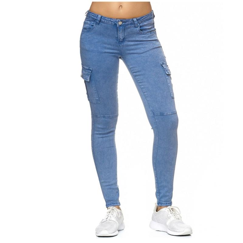 Lugentolo Jeans Frau Jeans für Damen Damenbekleidung Frühling und Herbst New Solideen Seitenständer dünnen Bleistift-Hosen-7 Farbe plus Größe 3XL