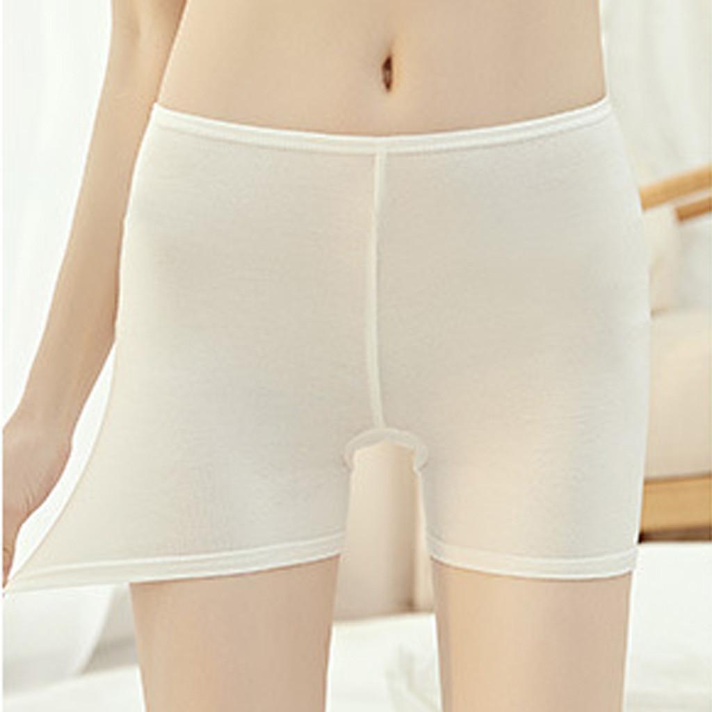 2020 Wulekue Summer Seamless Safety Short Pants Silk Women