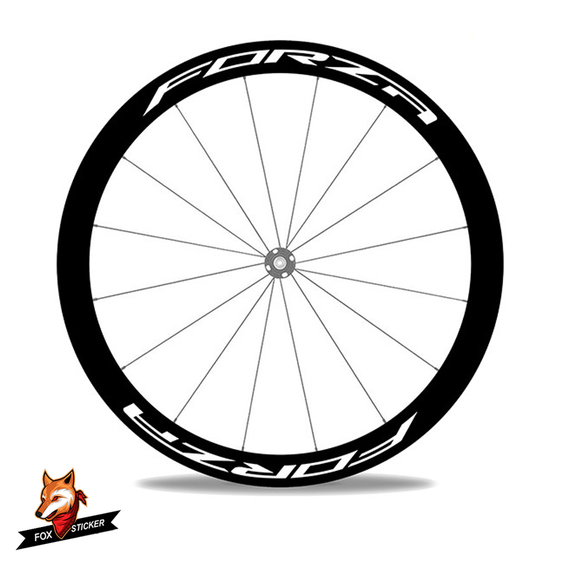 1 Pair 700c Road Disc Brake Bicycle Carbon Wheelset Sticker Bikes Cycling 243038405055608088mm Bicycle Wheels Decal for 4ZAForza Disc