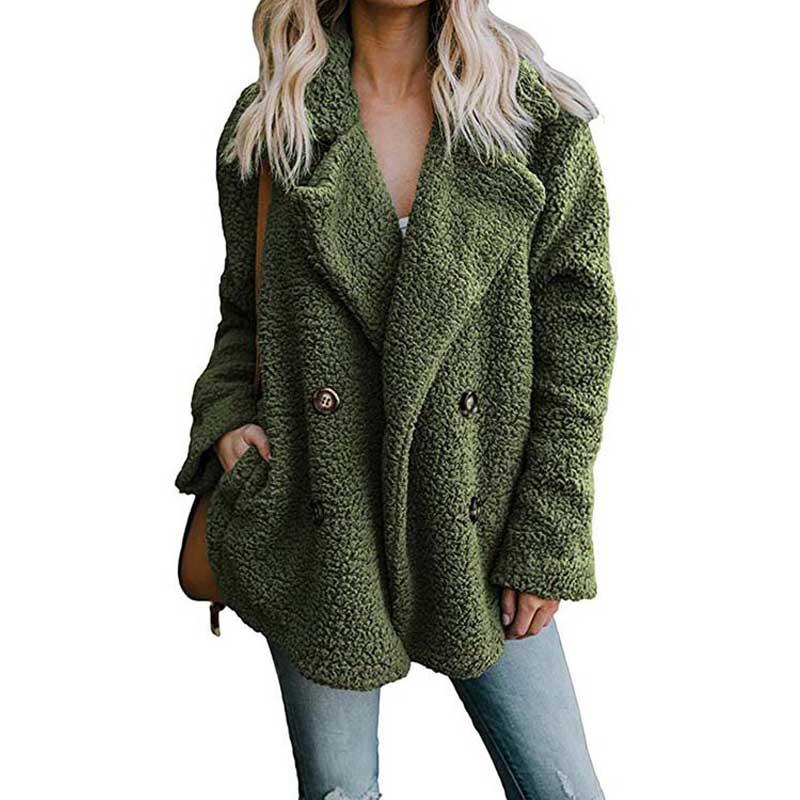 2019 Autumn Teddybär Frauen Plus Size Mantel dicke warme Winterjacke Damen-Oberbekleidung Mäntel Damenbekleidung Weiblicher Mantel Langarm Ladi