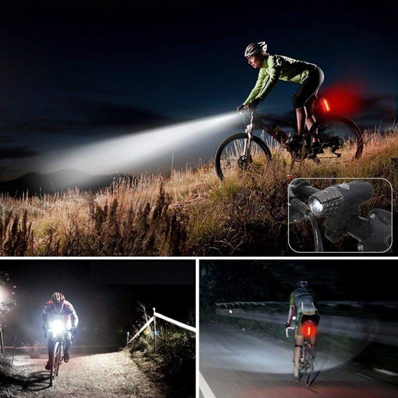 2020 Bike Light Rear Bicycle Headlight Night Rider USB ...