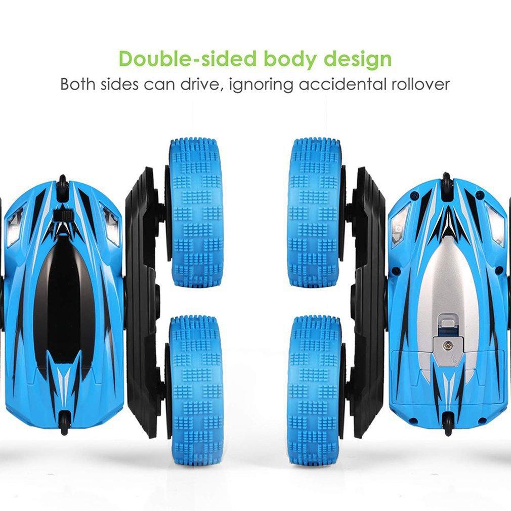 Wiederaufladbare Fernbedienung Teile Zubehör Elektrische Fernbedienung Mini Double Sided Stunt Kinder Spielzeug Rc Car Gravity Defying Tumbling Car