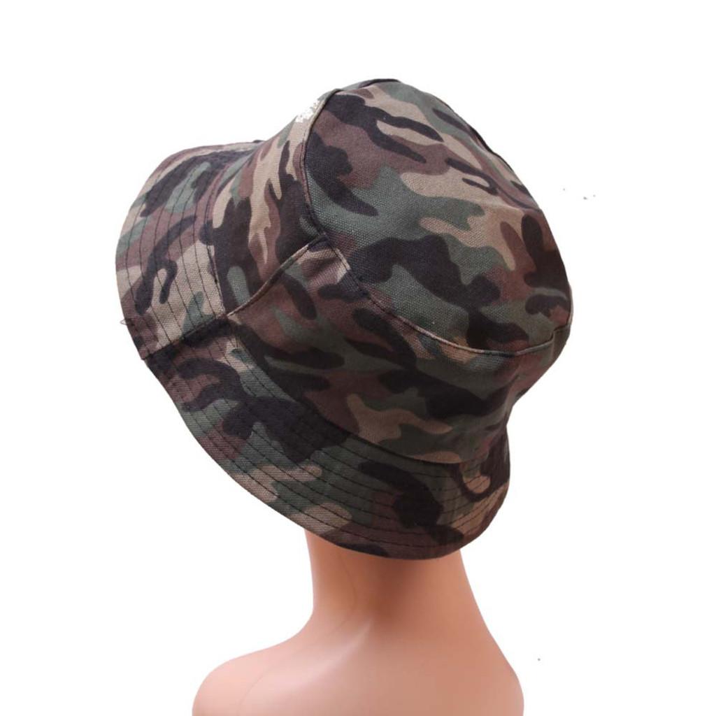 Sommer faltbare Eimer Hut Unisex Tarnung im Freien Hut Sonnenschutz Cotton Angeln Jagd Cap Sun Prevent HatsC Sports Caps Headwears Athl