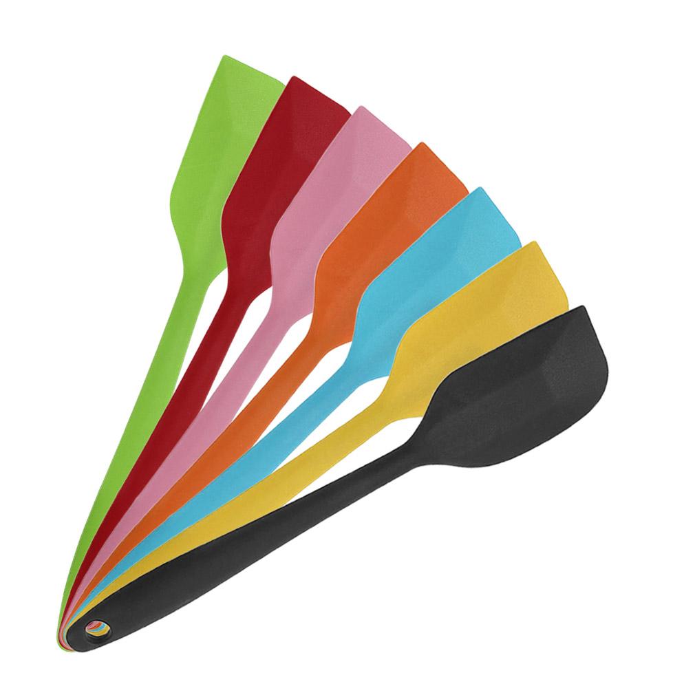 7 Cores Kitchen Baking Tools silicone spatula para Ice Cream Mixer manteiga pastelaria do bolo raspador Bakeware cozinha, refeitório Bar Biscoito Sp