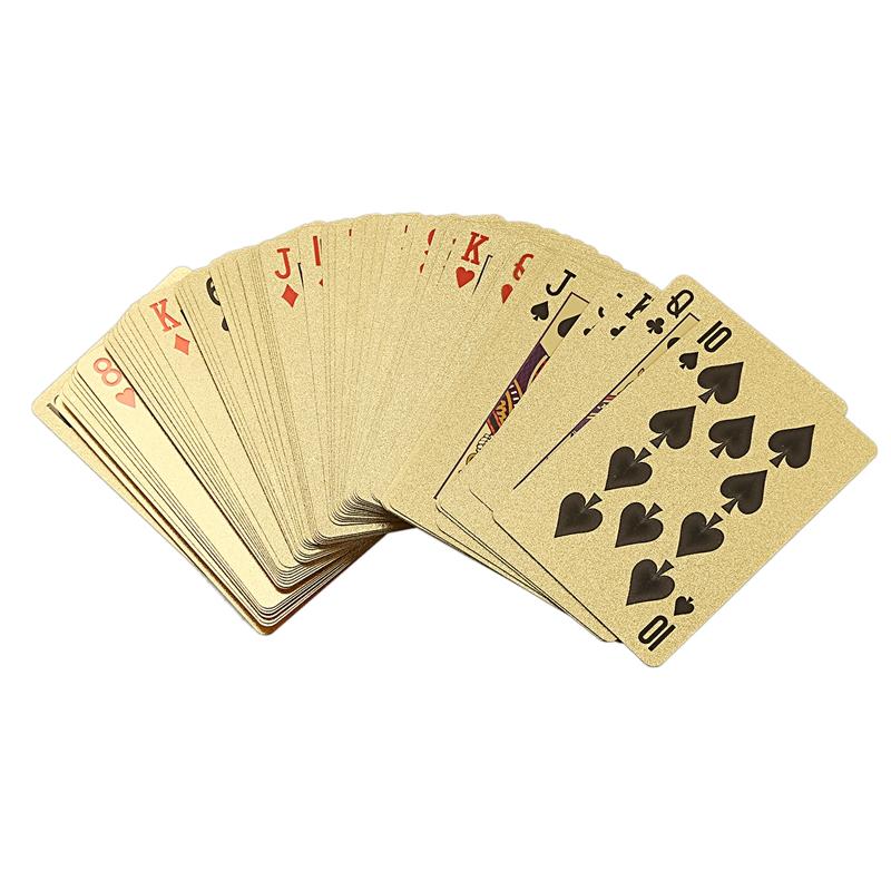Altın Varak Poker Euro Koşu Giyim Atletik Açık Giyim Tarzı plastik Poker Oynama Kartları Su geçirmez Kartları Masa Oyunu