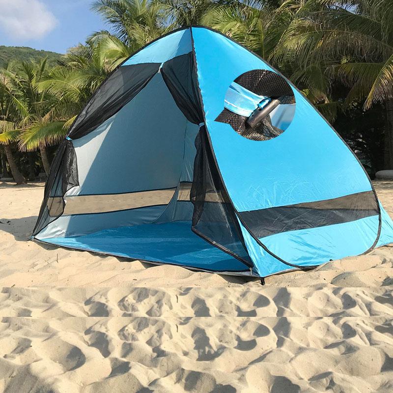 AntiMosquito Beach Ombra Tenda con garza protezione UV automaticamente Escursionismo e campeggio escursione di campeggio di campeggio esterna portatile tenda della spiaggia