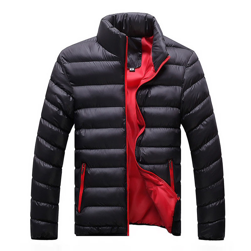 Winter Jacket Men 2019 New Cotton Men's Outerwear & Coats Men's Clothing Padded Thick Jackets Parka Slim Fit Long Sleeve Quilted Outerwear C