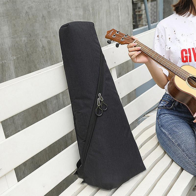 ABUOPortable Baumwolle Nylon Padded Blasinstrumenten-Zubehör-Teile Zubehör Parts Bassgitarre Gigbag Sopran-Ukulele-Fall-Kasten Guitarra Cove