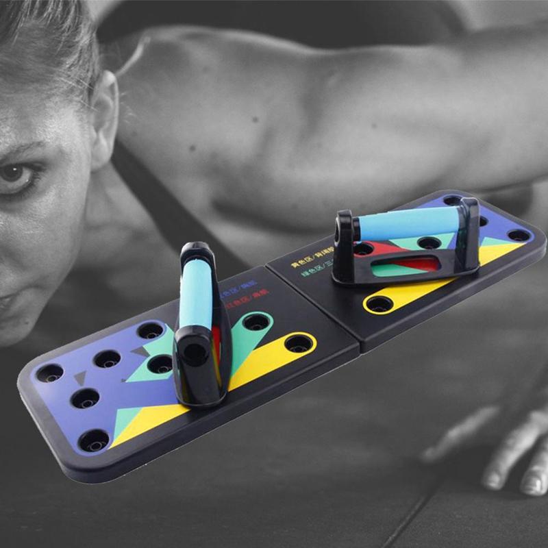 Строительство Складная Body Push Up стойку Совет оборудование Фитнес оборудование Фитнес Всестороннее упражнения отжимания Стенды для подготовки тела
