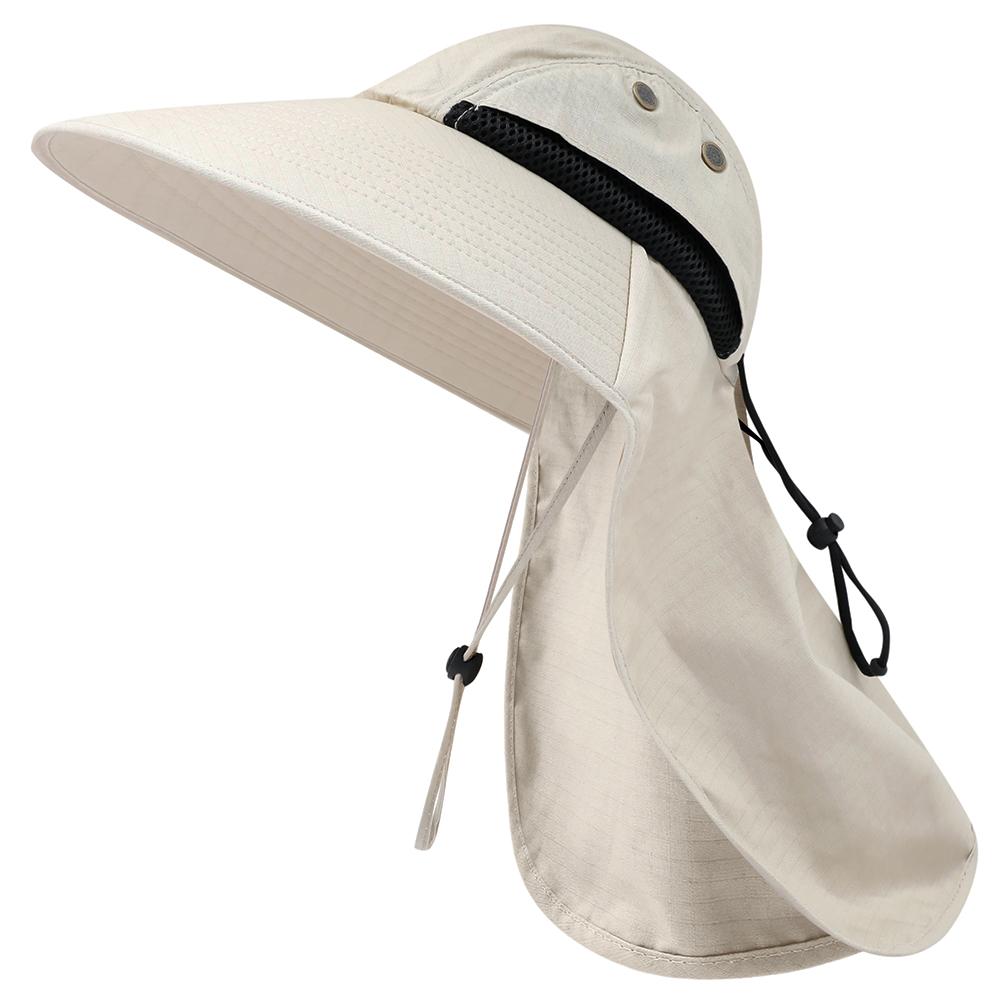 Мужская Cap Рыбалка Широкий Брим ВС Hat с шеи лоскут Пешеходные Hat регулируемый Drawstring Охота Cap для путешествий Спортивные шапки Headwears Спортивное
