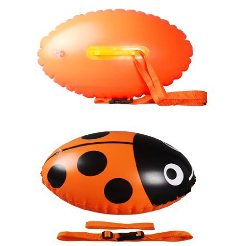 Orange PVC piscine gonflable flotteur gonflable Can Stockage Sécurité Épaississement deux coussins gonflables Equipements fitness Fournitures de remise en forme de sauvetage ball S
