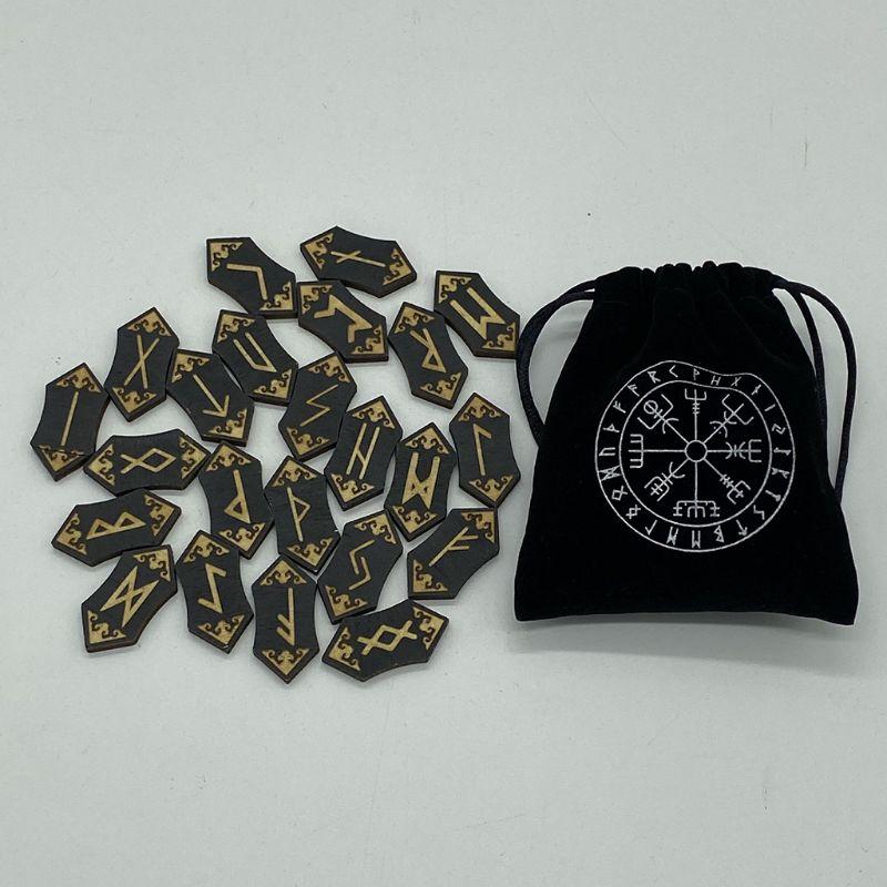 25Pcsset Деревянного Runes Runas Пьедр для гадания Резного Других продуктов Energy Kit 25Pcsset Деревянного Runes камень Runas Пьедр для Предсказания C