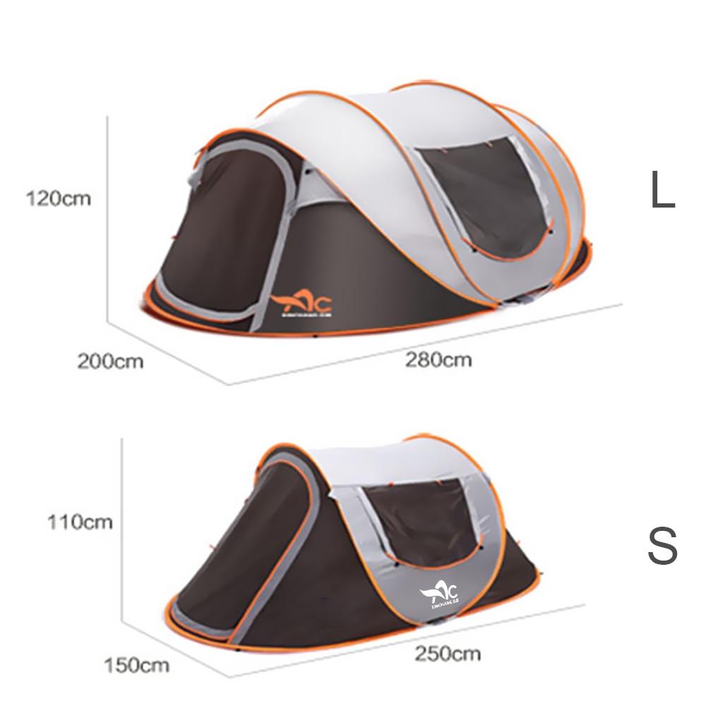 Al aire libre grande fullautomatic instantánea de excursión y camping que acampa yendo de Despliegue tienda impermeable familia de múltiples funciones portable dampproof Diez