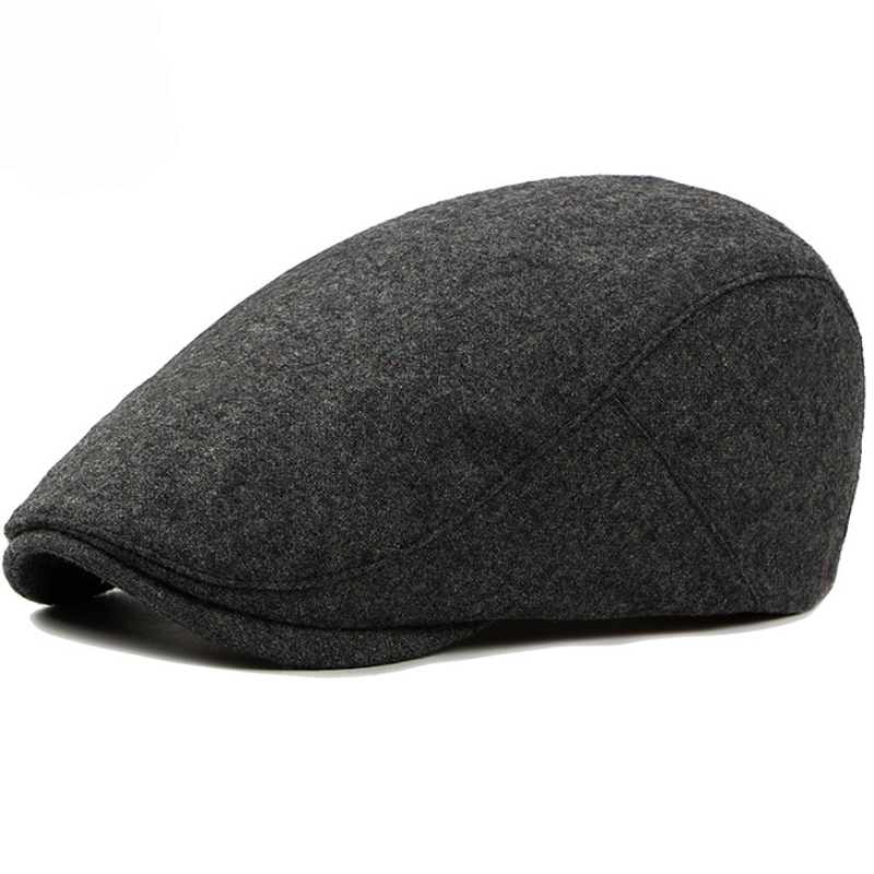 HT1319 New Autumn Winter Hats for Women Plain Solid Black Grey Flat Cap Fashion Hats & Caps Hats, Scarves & Gloves Wool Cabbie Gastby Ivy Ha