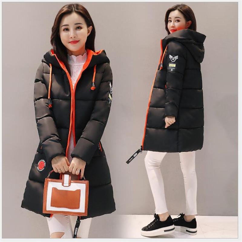 2019 Kabanlar Palto Kadın Giyim Kış ceket kadınlar Kalın Uzun Kadınlar Parkas Kapşonlu Kadın Dış Giyim İnce Sıcak Coat Aşağı Pamuk