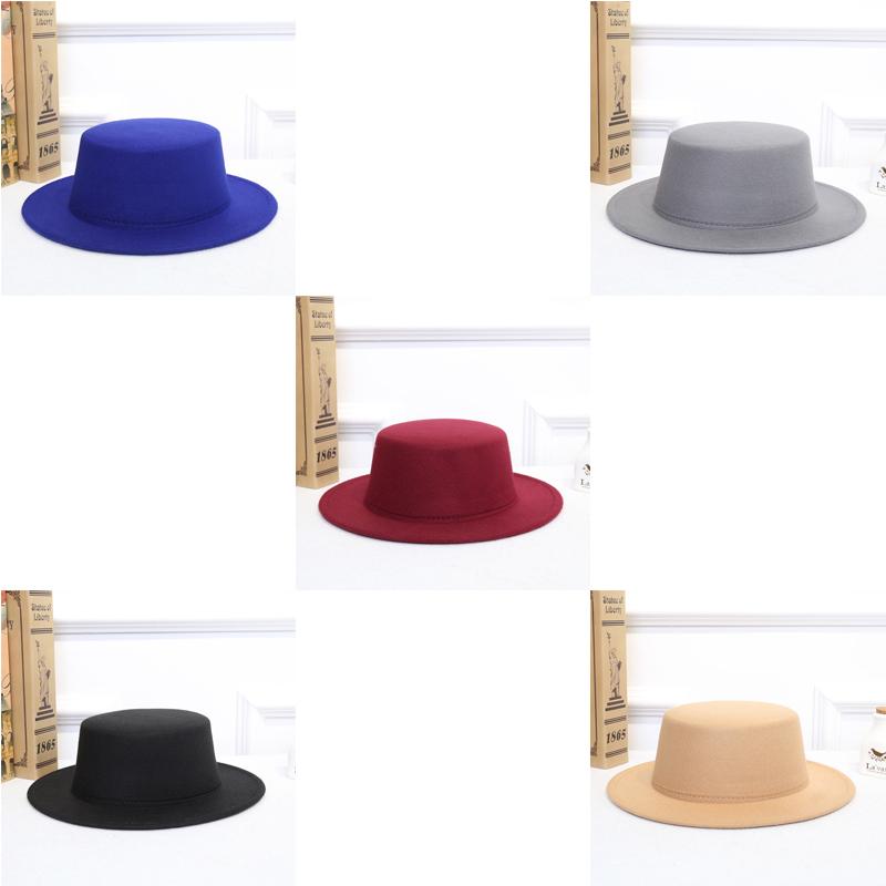 Colorido Clásico de Otoño de la vendimia de invierno las gorras sombreros, bufandas guantes retro señoras calientes del jazz femeninas de la manera sombreros de ala cubo de fieltro de algodón Cap