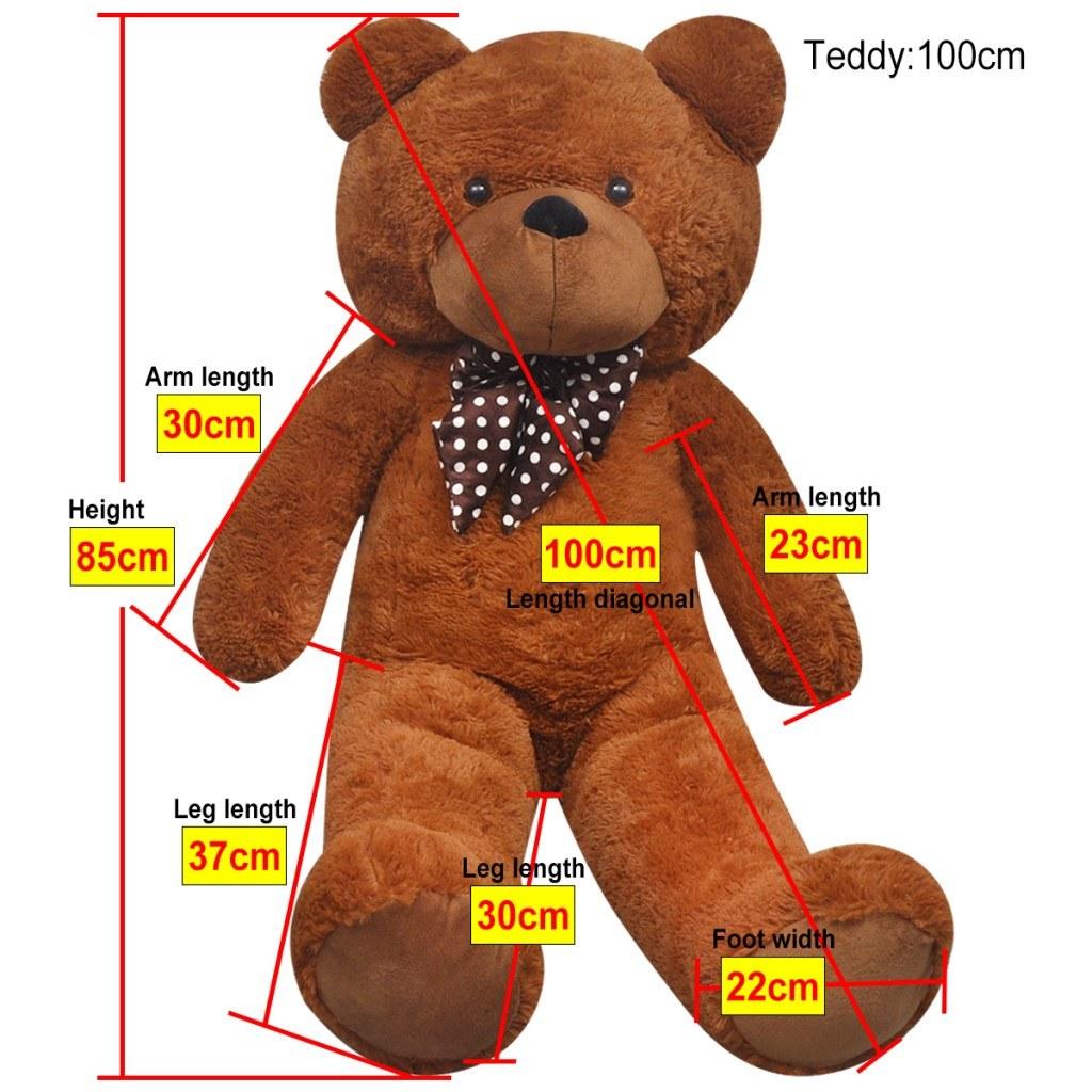 XXL Soft Teddy Bear Toy Brown 100 Puppets Stuffed Animals & cm XXL Soft Plush Teddy Bear Toy Brown 100 Puppets Stuffed Animals & Plush cm