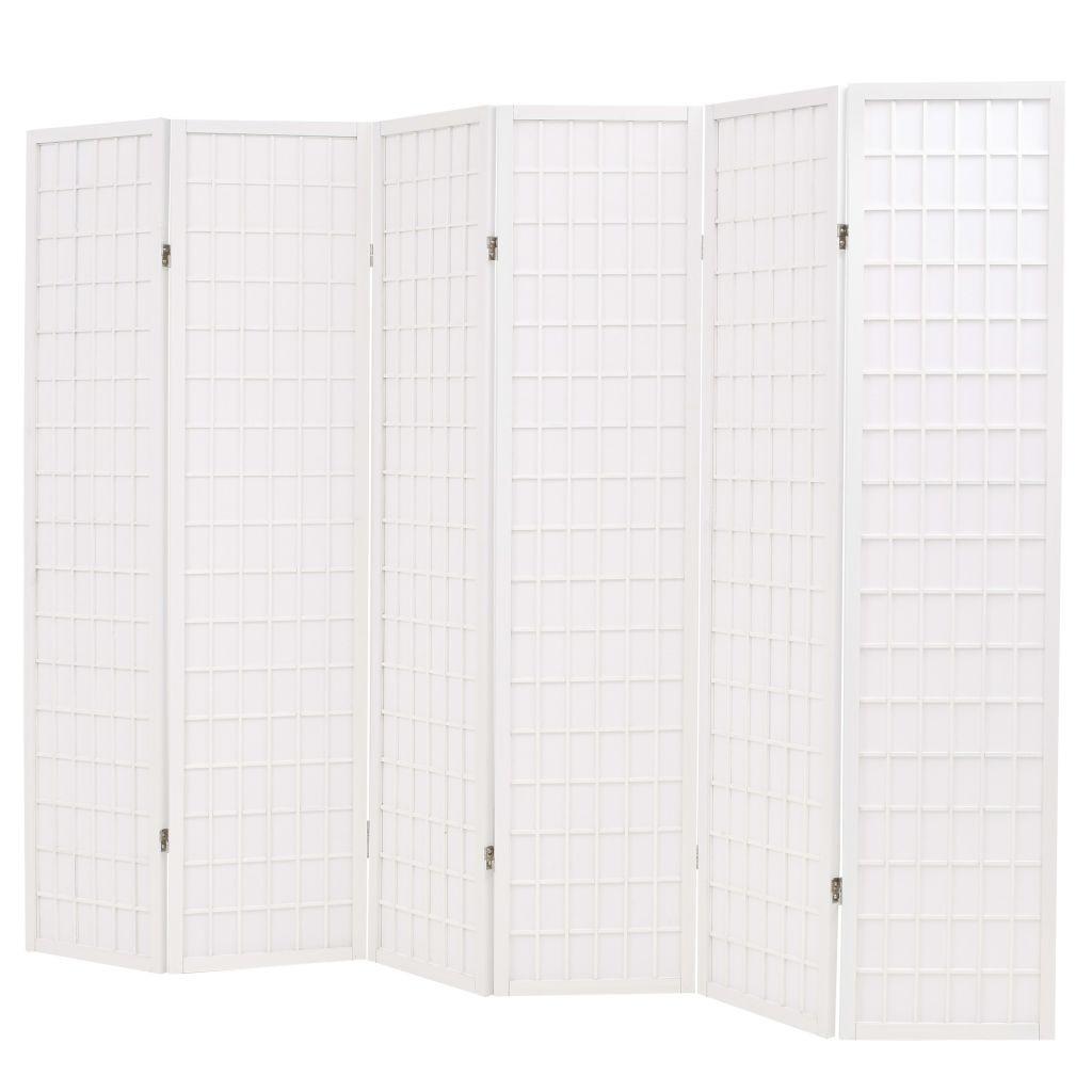 6 unidades. divisor de quarto estilo japonês dobrável 240 Outdoor x 170 cm Branco 6 pcs. divisor de quarto estilo japonês dobrável 240 Outdoor Furniture Fur