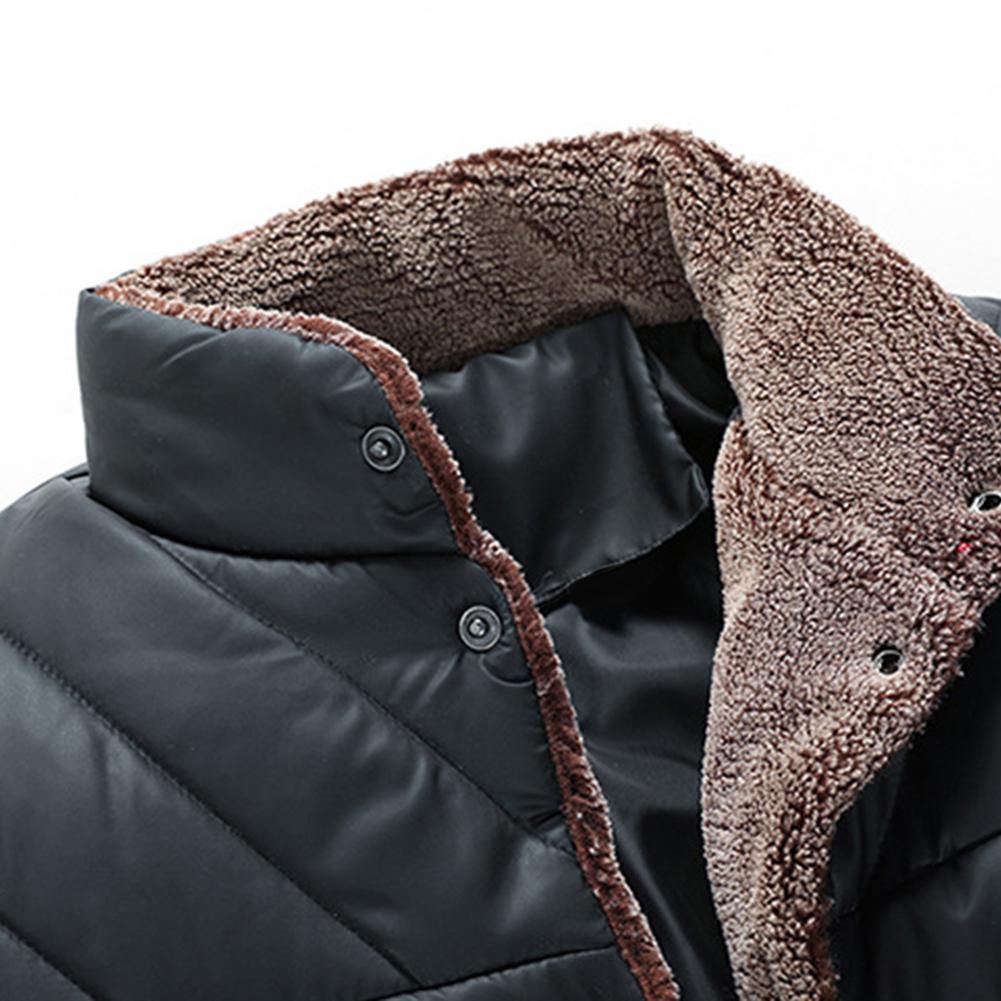 2019 Herrenoberbekleidung Mäntel Herrenbekleidung Lässige Parka Volltonfarbe Winter-Mann-Mode-Patchwork Cotton Slim Fit Coat starker warm Hommes