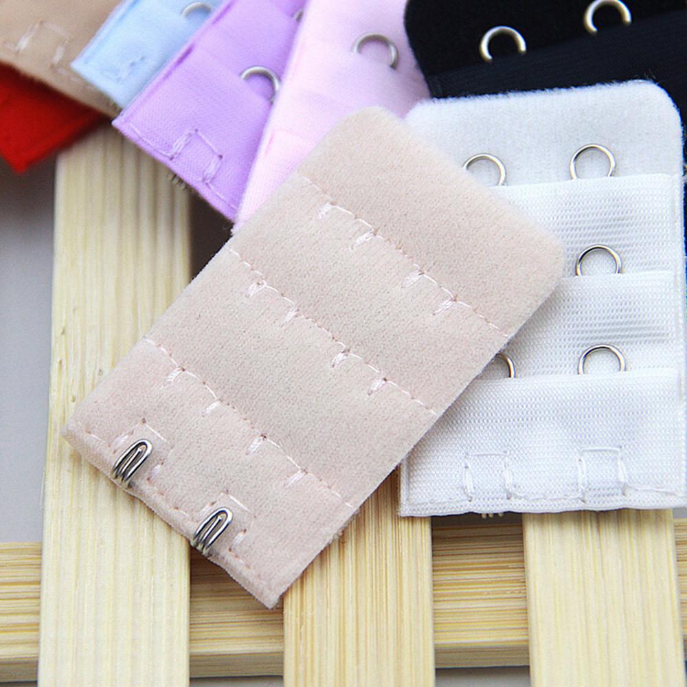DIY Women Soft Women's Underwear Underwear Comfortable Bra 2 x 3 Hooks Extender Strap Adjustable Extension Increase your Intimates size