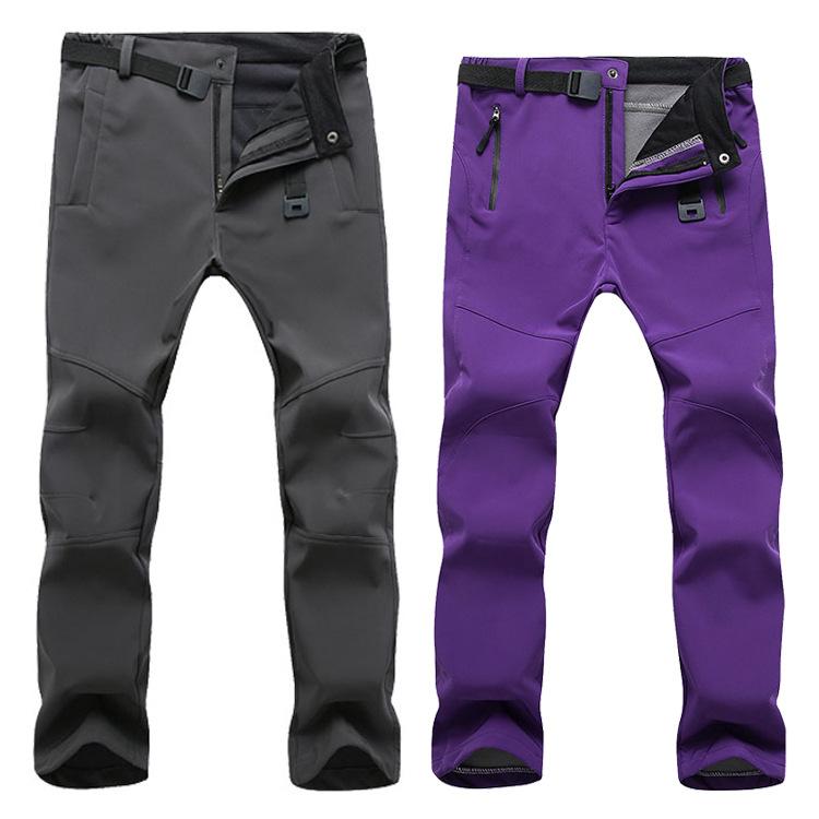 2020 pantalones de invierno polar senderismo MenWomen Outdoodr caliente Softshell al aire libre de ropa deportiva al aire libre Ropa Pantalones impermeables térmica camping Sk