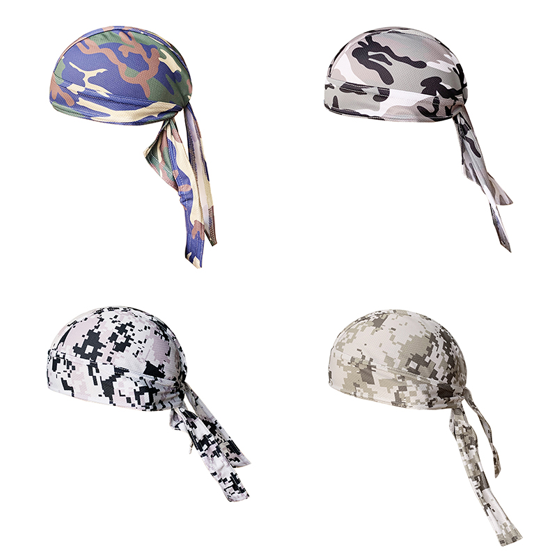 Quick Dry Protective Gear Cycling Cycling Cap Pirate Hat Camouflage Digital Head Scarf Helmet Summer Men Women Hood Headband For Cycling Run