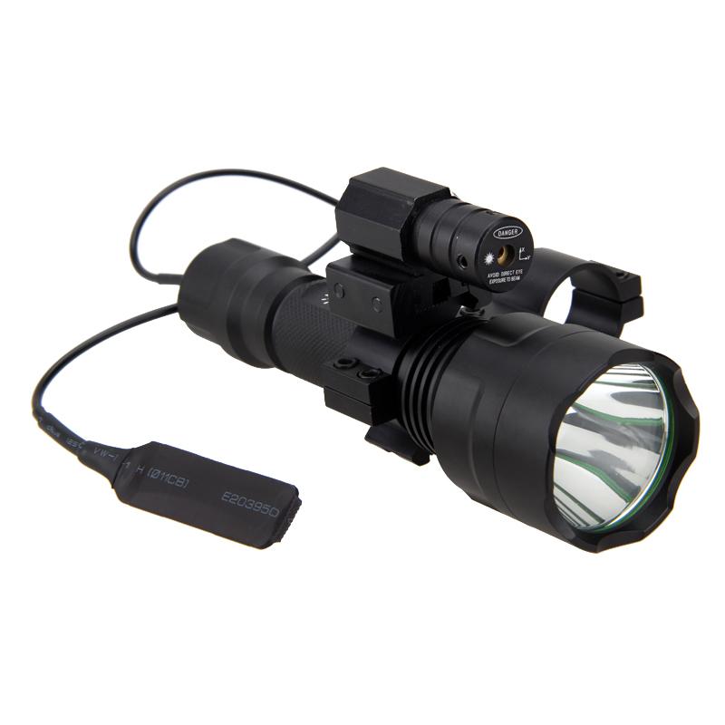 تكتيكية LED الصيد مضيا أحمر أخضر أبيض بندقية الشعلة ليزر نطاق البصر نقطة بعد بندقية الصيد أضواء تبديل السكك الحديدية 20MM برميل جبل