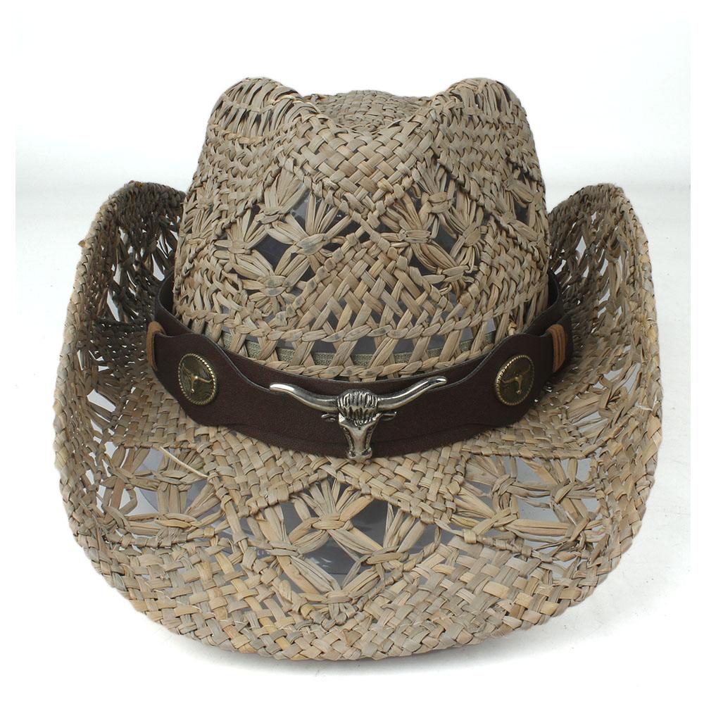 100 Saman Erkekler Kadınlar, eşarplar Eldiven Geniş Brim Şapka Açık Sombrero Hombre Cowgirl Hat Batı Kovboylar Capss el yapımı