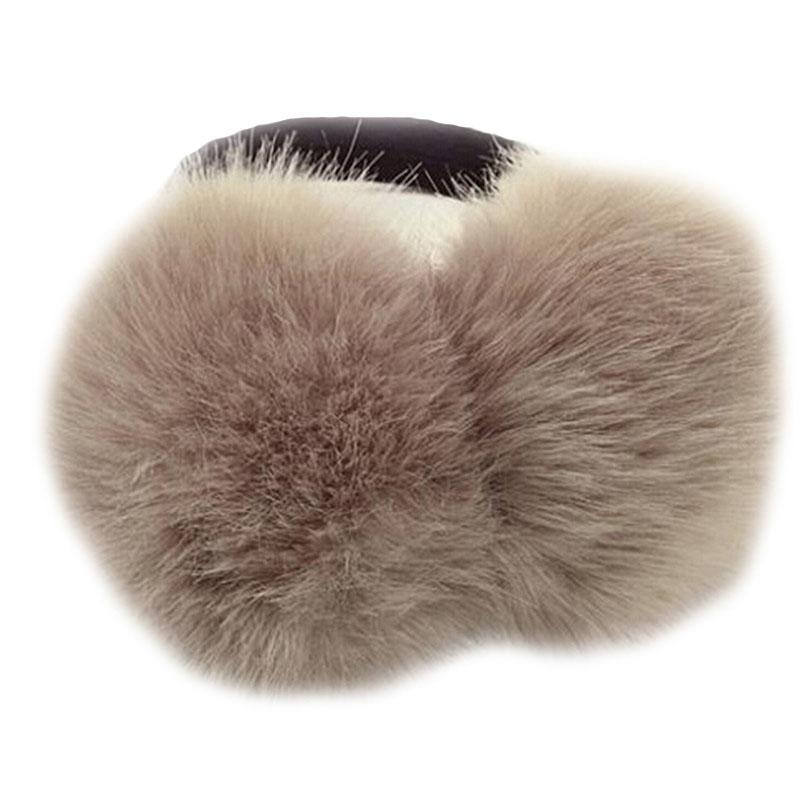 CHSDCSI Chapéus de Inverno Caps chapéus, lenços Glovesmuffs Aqueça Fur ouvido mais quente de alta qualidade Ski Fur Earmuffs ouvido cobertura para meninas sólida para cores