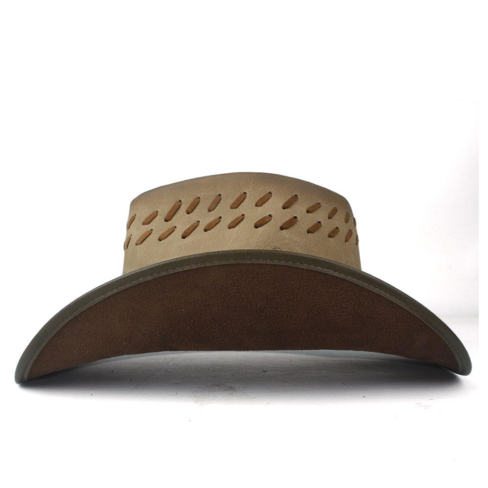 100 hombres de cuero de las mujeres occidentales del vaquero sombrero de ala ancha papá señora las gorras sombreros, bufandas guantes sombrero Hombre sombrero de la vaquera