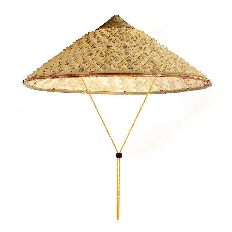 NEWVietnamese Şapkalar Şapkalar, eşarplar Eldiven Japon Coolie Straw Bambu Koni Sun Hat Bahçe Çiftçi Balıkçılık Caps