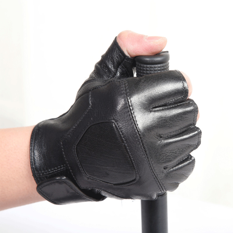 رجل جديد قفازات جلدية إصبع القفازات القبعات والأوشحة Glovesless نصف اصبع قفازات للدراجات النارية الدراجات في الهواء الطلق لتعليم قيادة السيارات