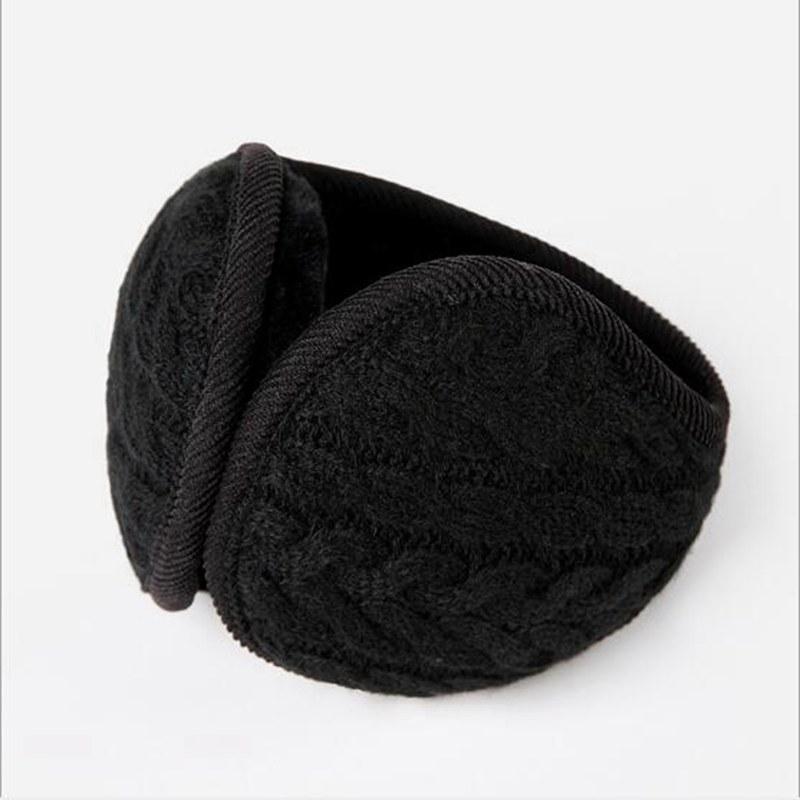 PC 1 para mujer para hombre del calentador del invierno espesan la felpa del oído Cove Muff Moda Unisex plegables de punto de lana con banda de las gorras sombreros, bufandas glov