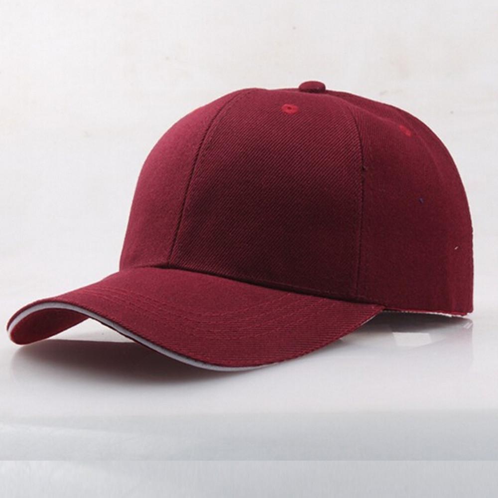 أحمر القبعات بورجوندي قبعات القبعات والأوشحة والقفازات خمر المتناثرة اللون الصلبة واقية من الشمس المرأة قبعة بيسبول قبعة snapback الهيب هوب VIC قابل للتعديل