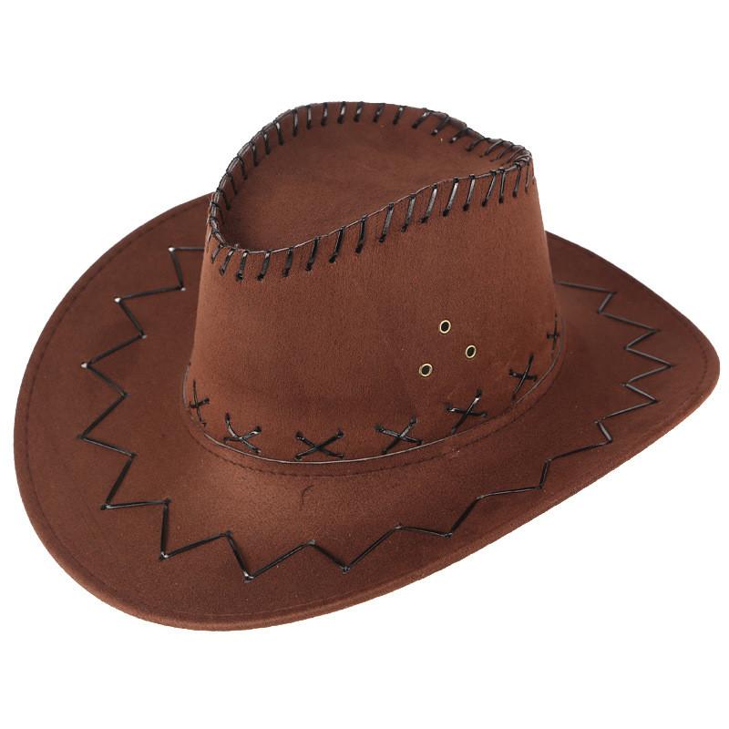 Z40 Raffreddare Cappelli occidentali Cappelli, Sciarpe Guanti Cappelli da cowboy Men Visiera Cap donne viaggio di prestazione dei cappelli da cowboy occidentali parasole Cap 9 col