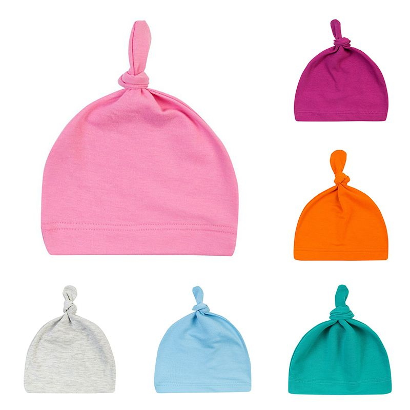 16 COLOR neugeborene Baby-Cotton Knoten Top Solid Color Schal, Hut Handschuhe Sets Hüte, Schals Handschuhe Süßigkeit Beanies Kleinkind-Mädchen Schlaf-Caps Hot