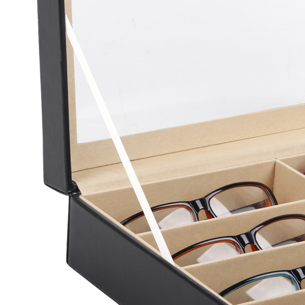 8Grid Eye Glasses Case Eyewear Sunglasses Display Storage Other Fashion Accessories Box Holder Organizer 8Grid Eye Glasses Case Eyewear Sun