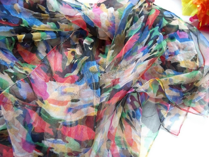 BYSIFA Bunte Silk Schal wickelt Hüte, Schals Handschuhe Damen langer dünner 100 Silk langer Schal 170105cm eleganter Maxi-Größe Marke Herbst