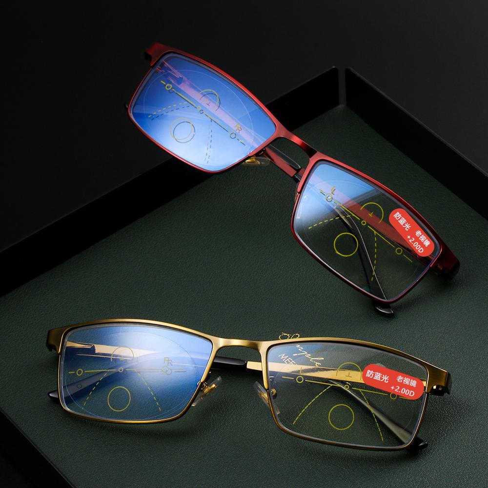Karşıtı Mavi Işık Progresif Multifokal Okuma Gözlüğü Kadın Erkek Radyasyon Presbiyopi Gözlükler Ayarlanabilir Göz Sağlığı Gözlük Diğer fashi