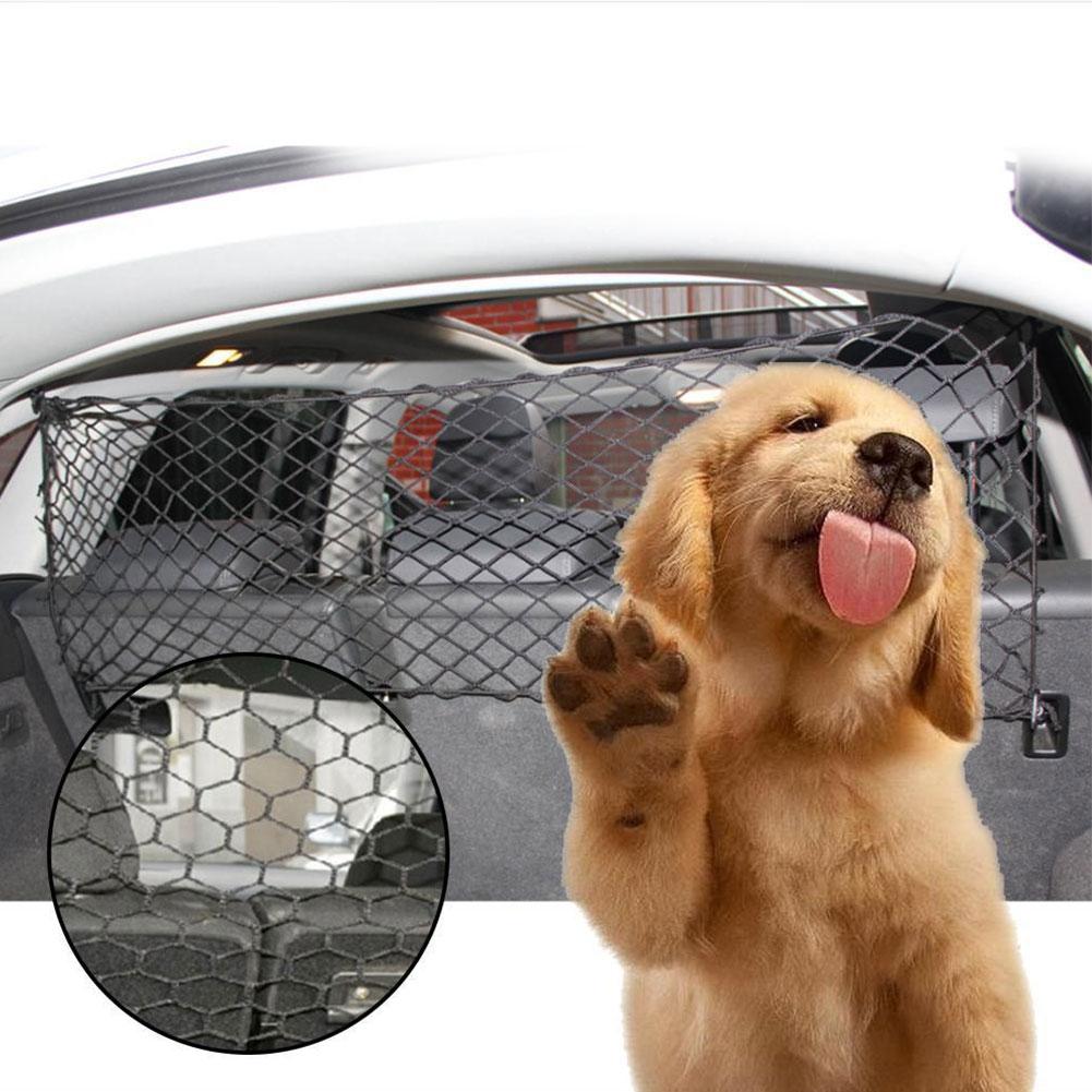 Universal Adjustable Mesh Safety Guard Dog Supplies Pet Supplies Dog Trunk Fence Travel Car Barrier Accessories 900D PE polyester Pet Cat Pu