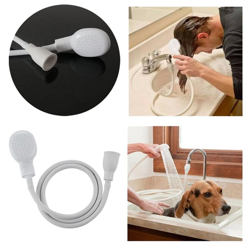 LBER 12M Banyo Başkanları Pet Duş dokunun Hortum Akvaryumlar Balık Pet Malzemeleri Spreyleri Musluk Drenler Pislik Sprey Duş