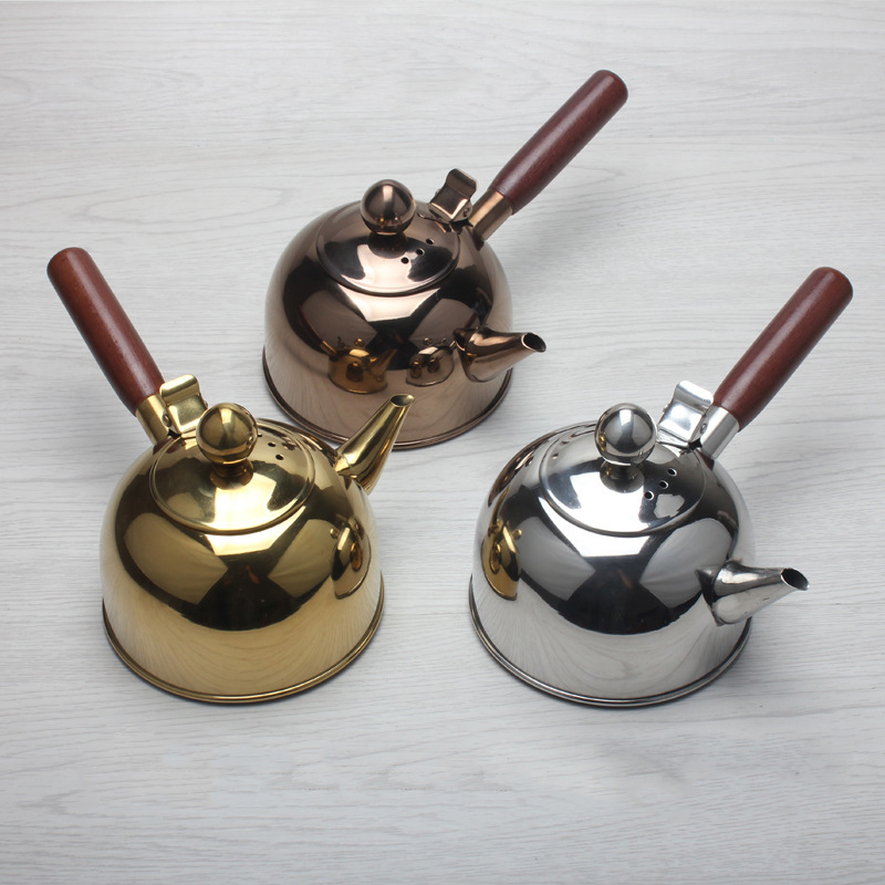 500Ml Single Handle Water Kettle Induction Turk Samll Coffee Milk Tea Pot Bakeware Kitchen, Dining & Bar 304 Stainless Steel Outdoor Water B