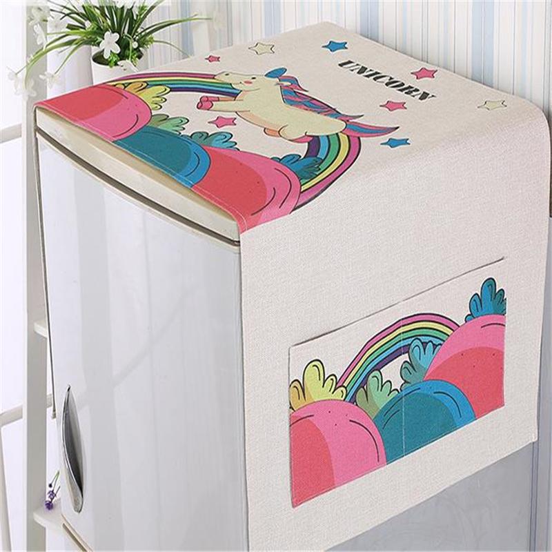 1шт Многофункциональный Хлопок Ткань Art Холодильник Бытовая для очистки Уборка Организация Стиральная машина Пылезащитный Waterpro